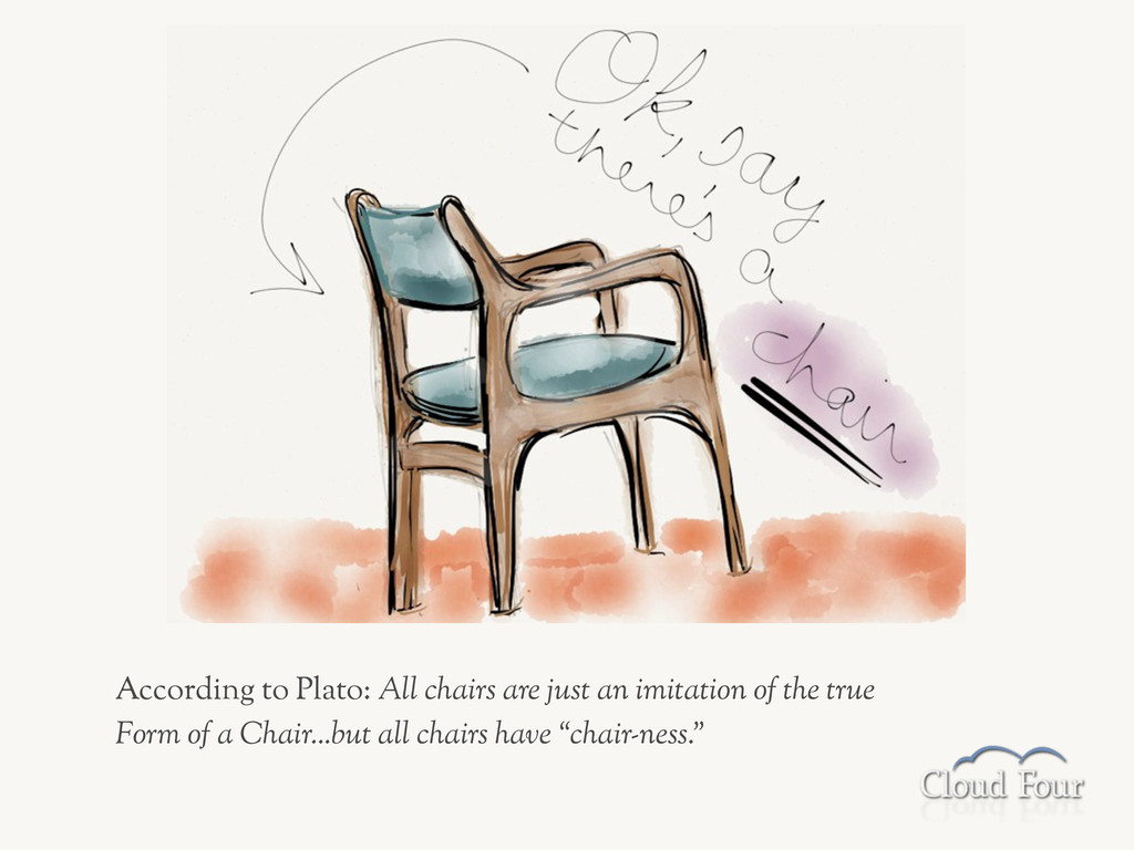 According to Plato: All chairs are just an imit...