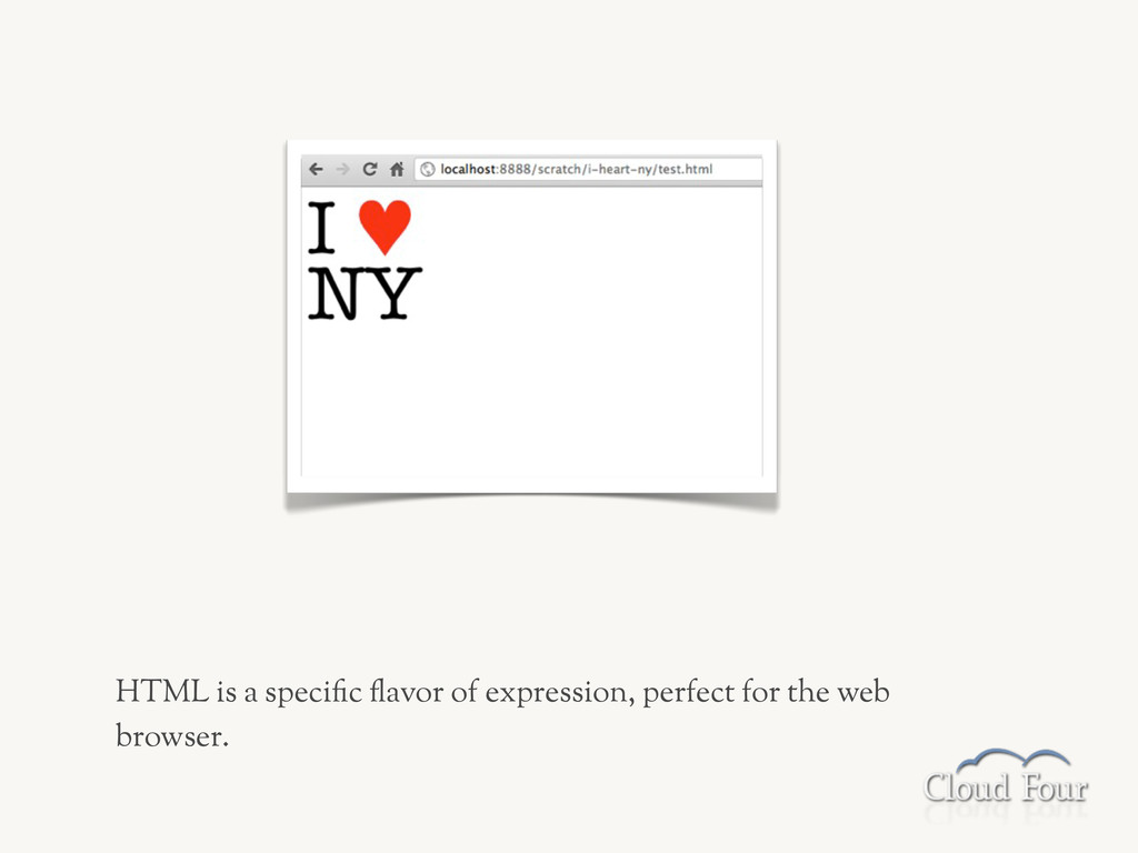 HTML is a speci-c .avor of expression, perfect ...