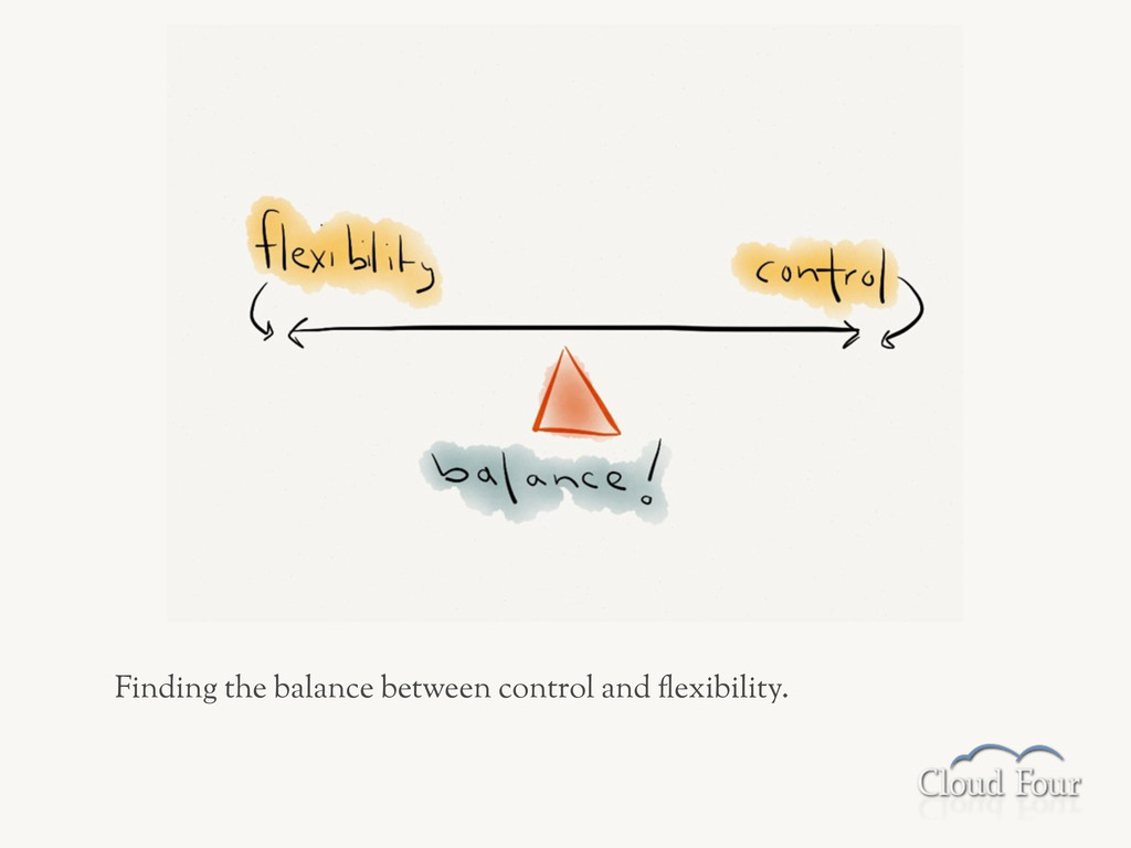 Finding the balance between control and .exibil...