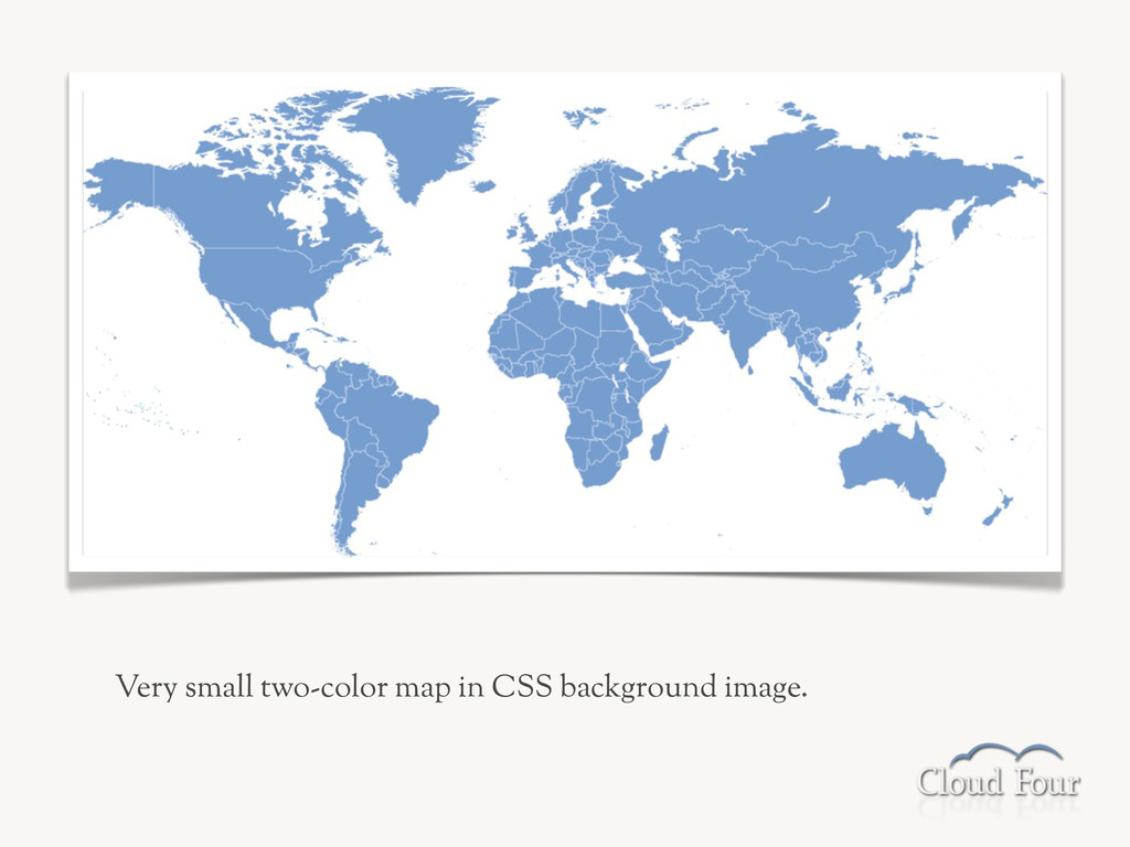 Very small two-color map in CSS background imag...