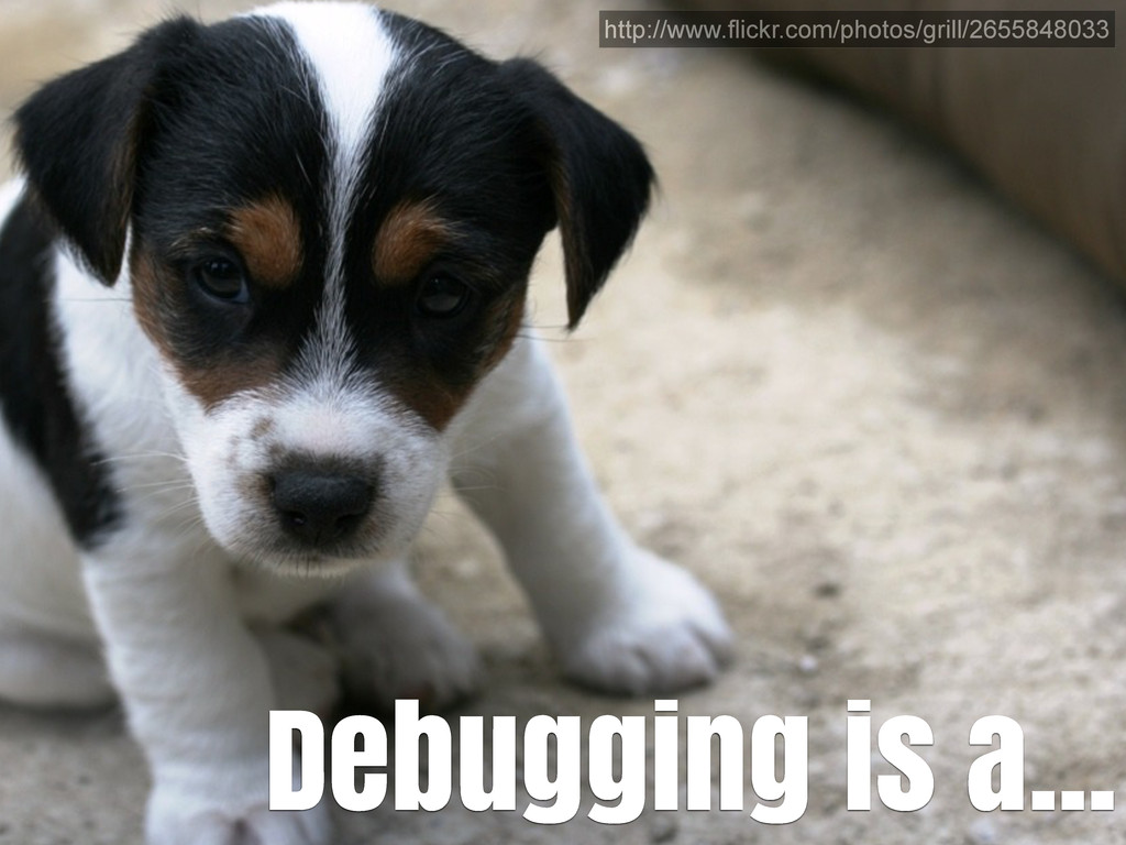 Debugging is a... http://www.flickr.com/photos/...