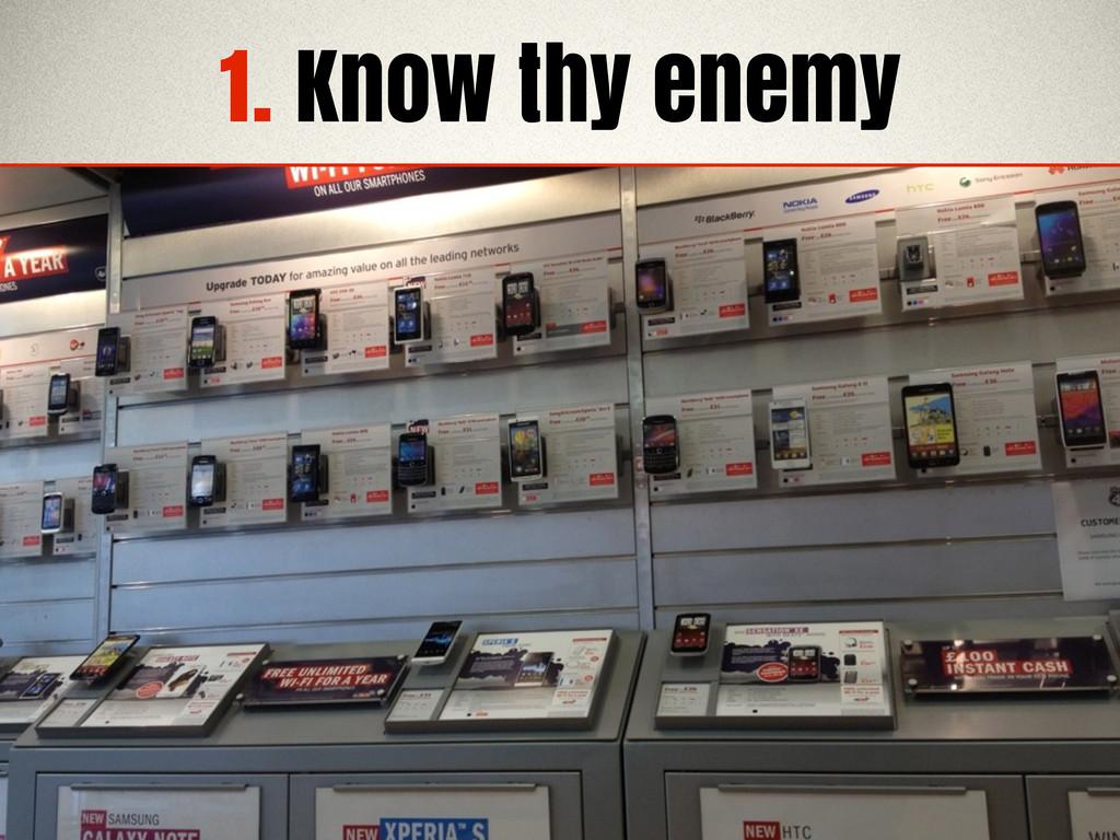1. Know thy enemy