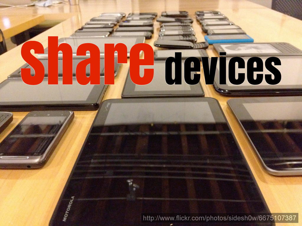 Share devices http://www.flickr.com/photos/side...