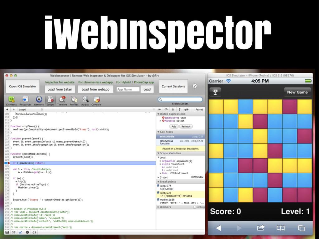 iWebInspector / Hooking Web Inspector iWebInspe...