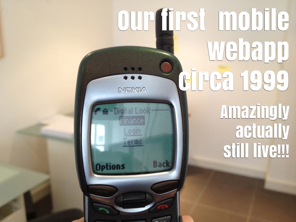 Our first mobile webapp circa 1999 Amazingly ac...