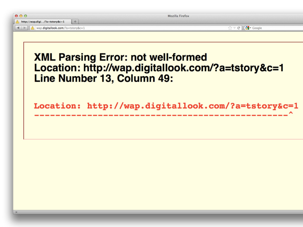 XML parsing :( (but strict is strict)