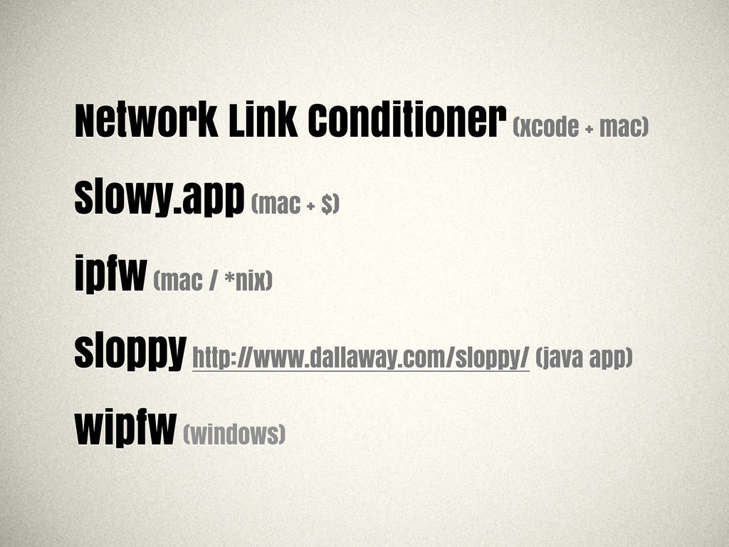Network Link Conditioner (xcode + mac) Slowy.ap...