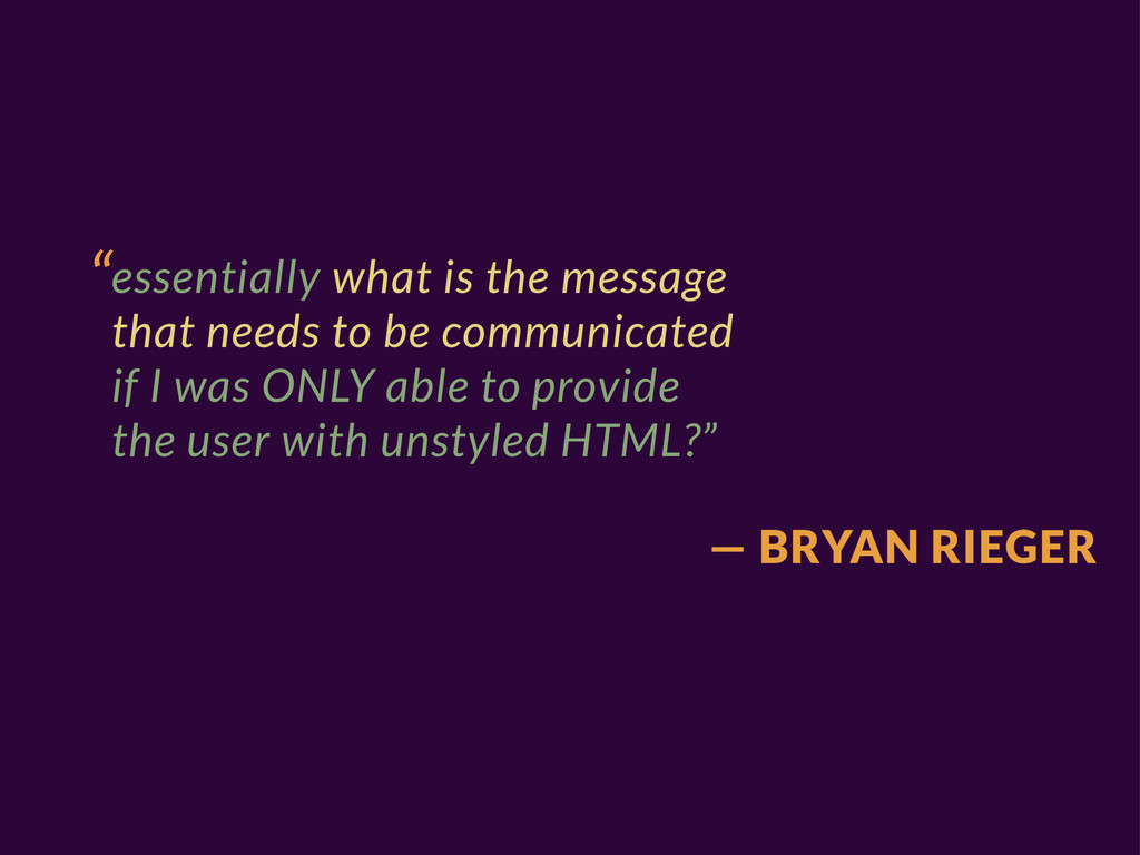 """""""essentially what is the message that needs to ..."""