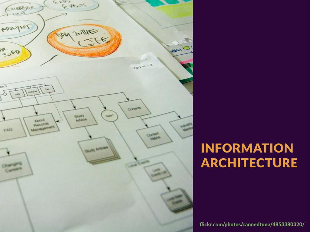 INFORMATION ARCHITECTURE flickr.com/photos/canne...