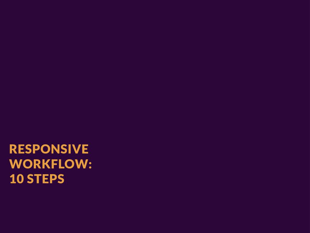 RESPONSIVE WORKFLOW: 10 STEPS
