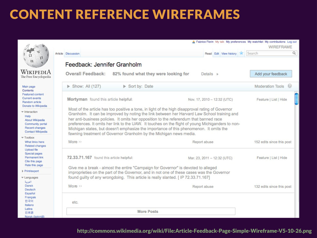 CONTENT REFERENCE WIREFRAMES http://commons.wik...