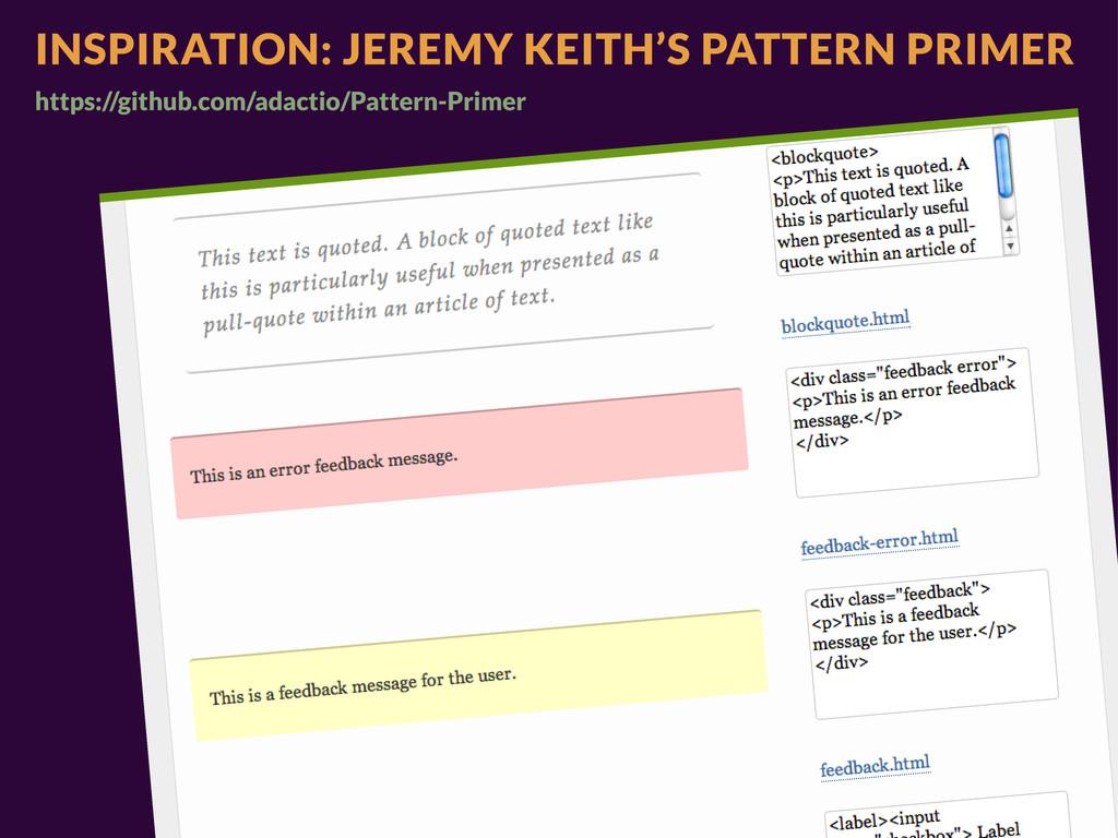 INSPIRATION: JEREMY KEITH'S PATTERN PRIMER http...