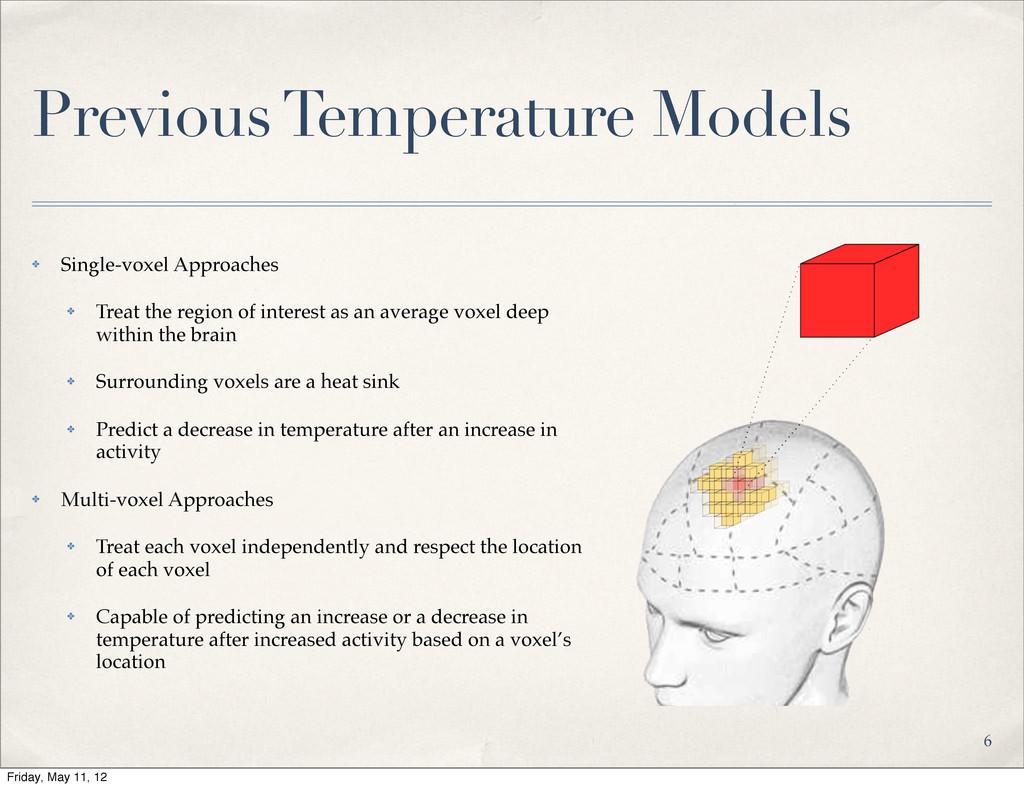 Previous Temperature Models ✤ Single-voxel Appr...