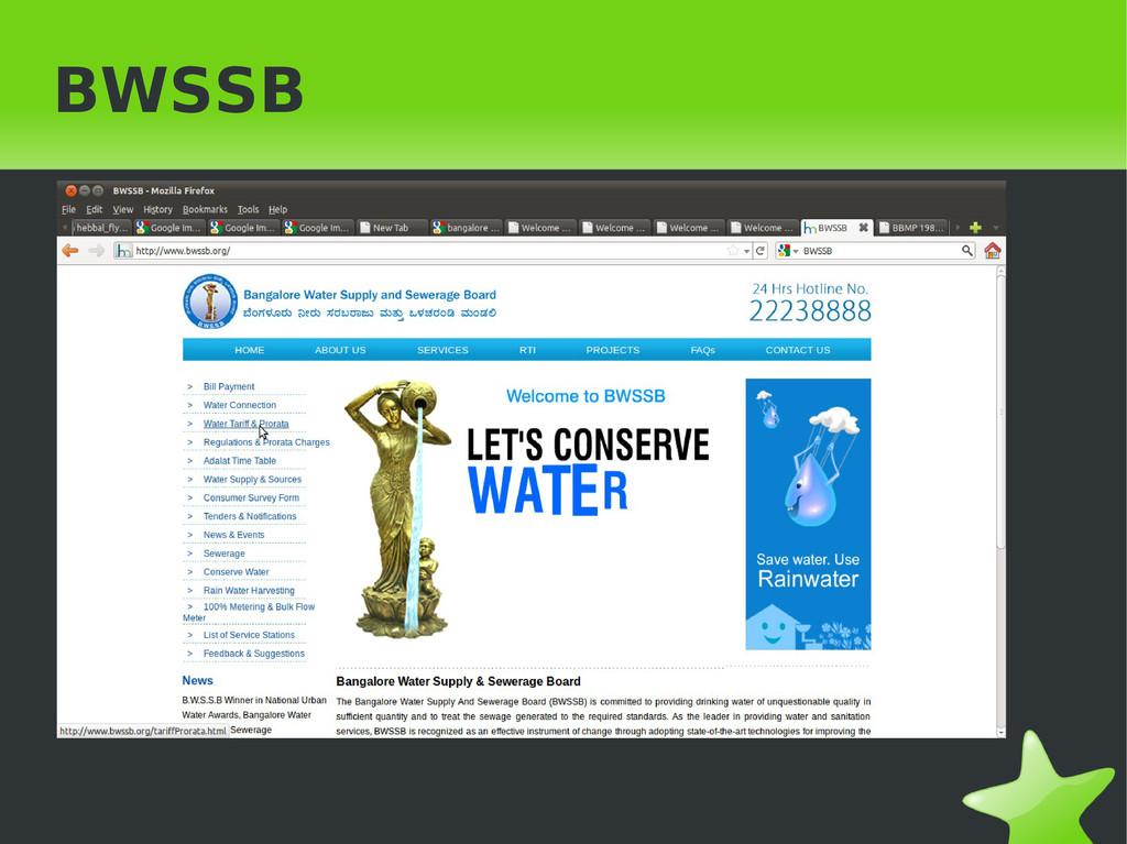 BWSSB
