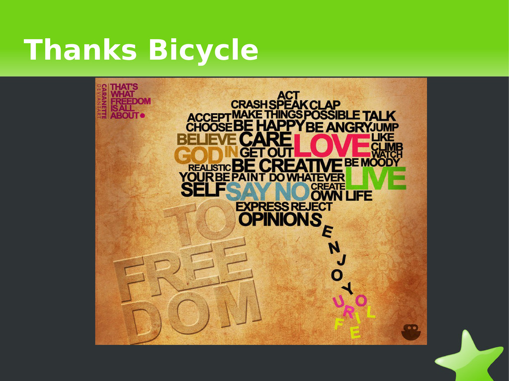 Thanks Bicycle