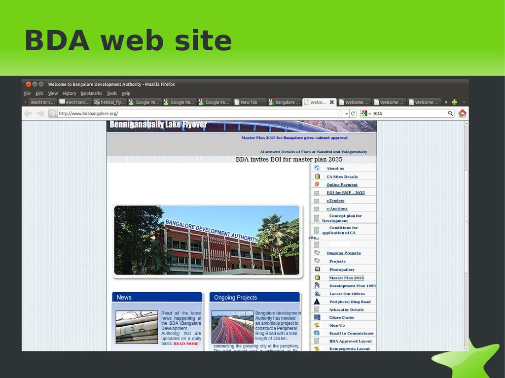 BDA web site