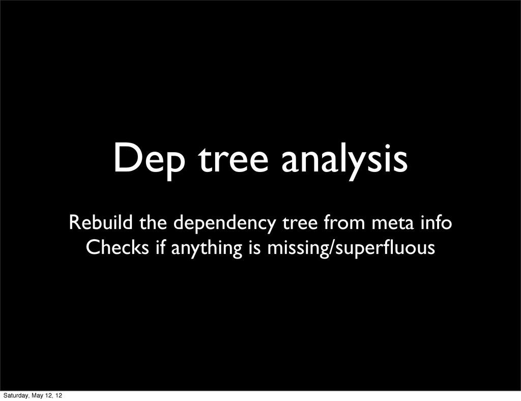 Dep tree analysis Rebuild the dependency tree f...