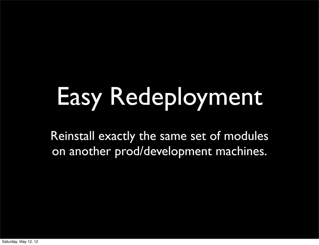 Easy Redeployment Reinstall exactly the same se...