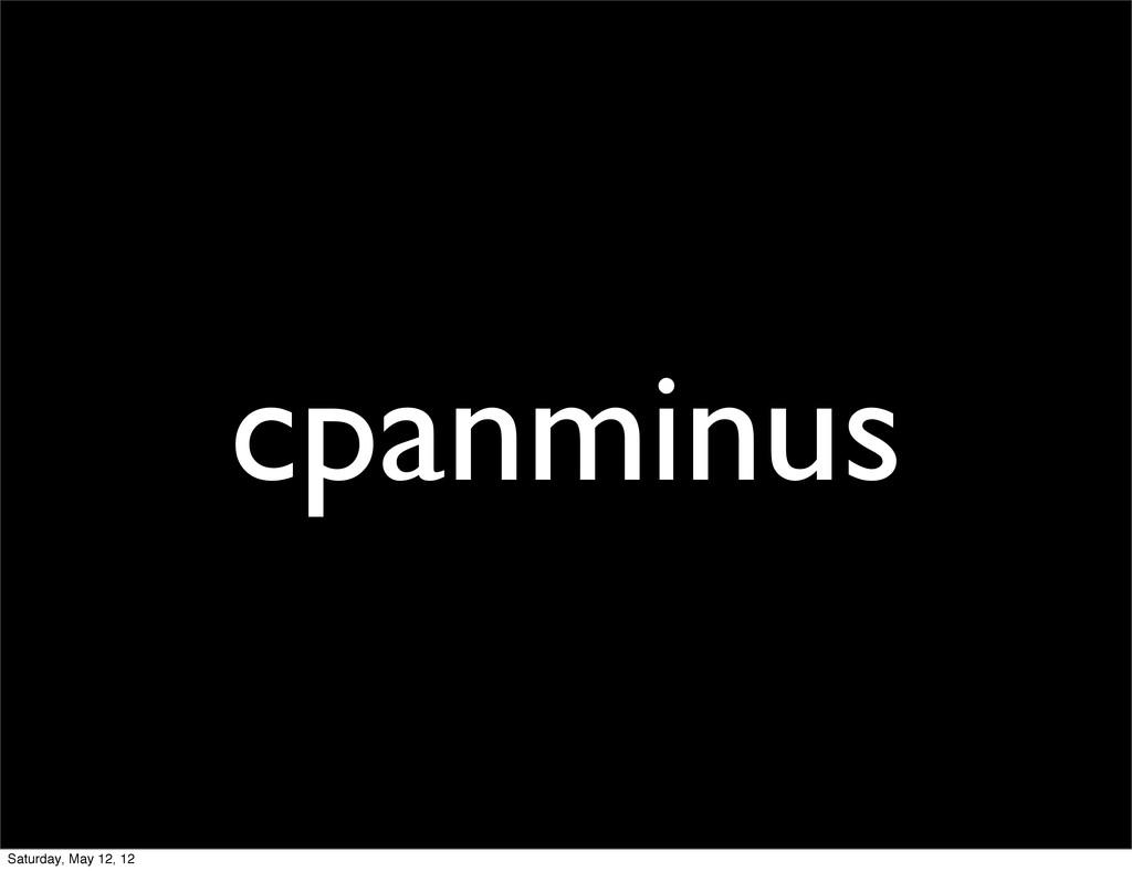 cpanminus Saturday, May 12, 12