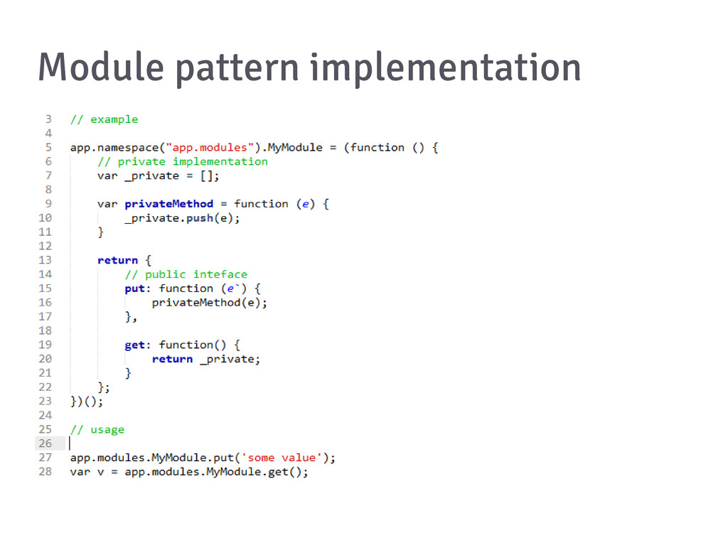 Module pattern implementation