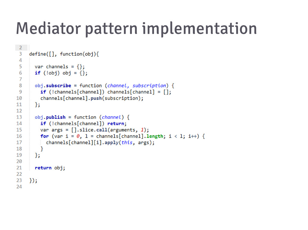 Mediator pattern implementation
