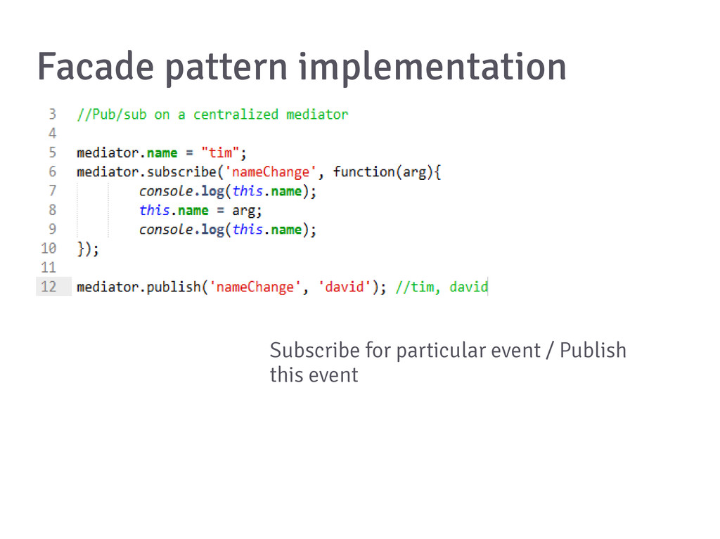 Facade pattern implementation Subscribe for par...