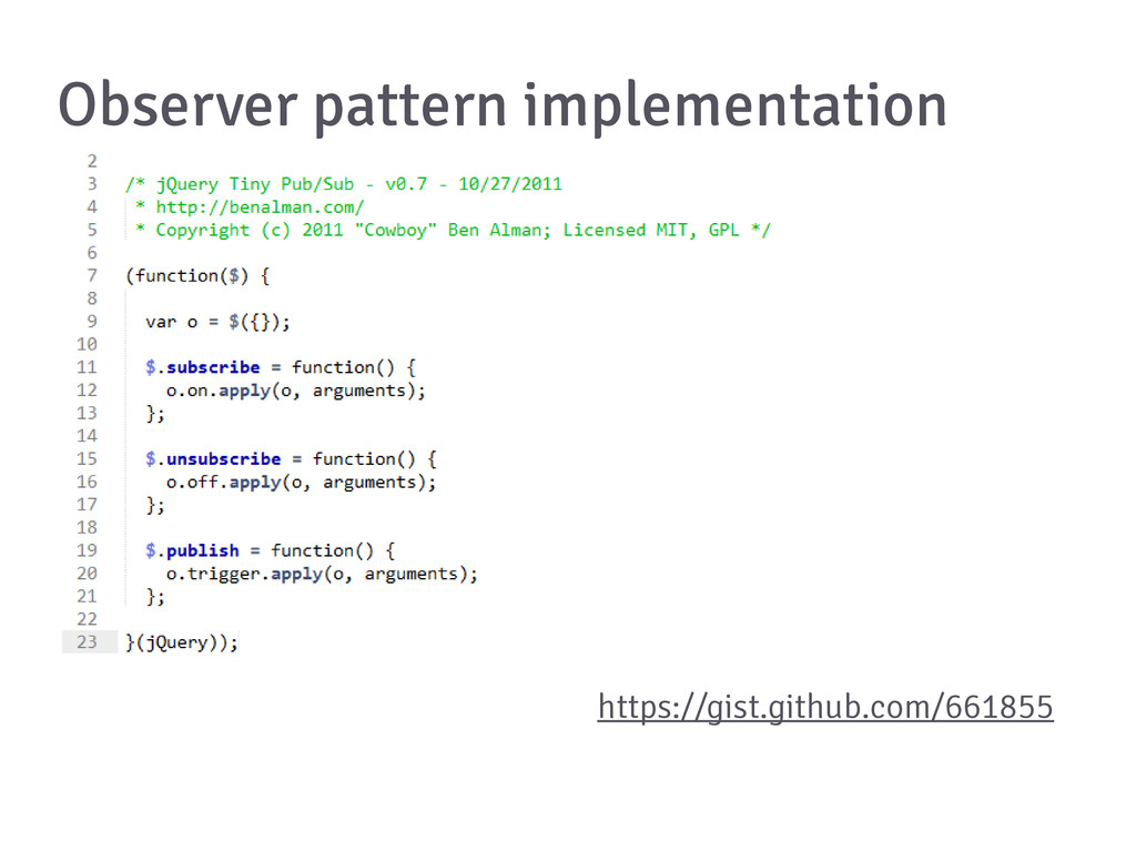 Observer pattern implementation https://gist.gi...