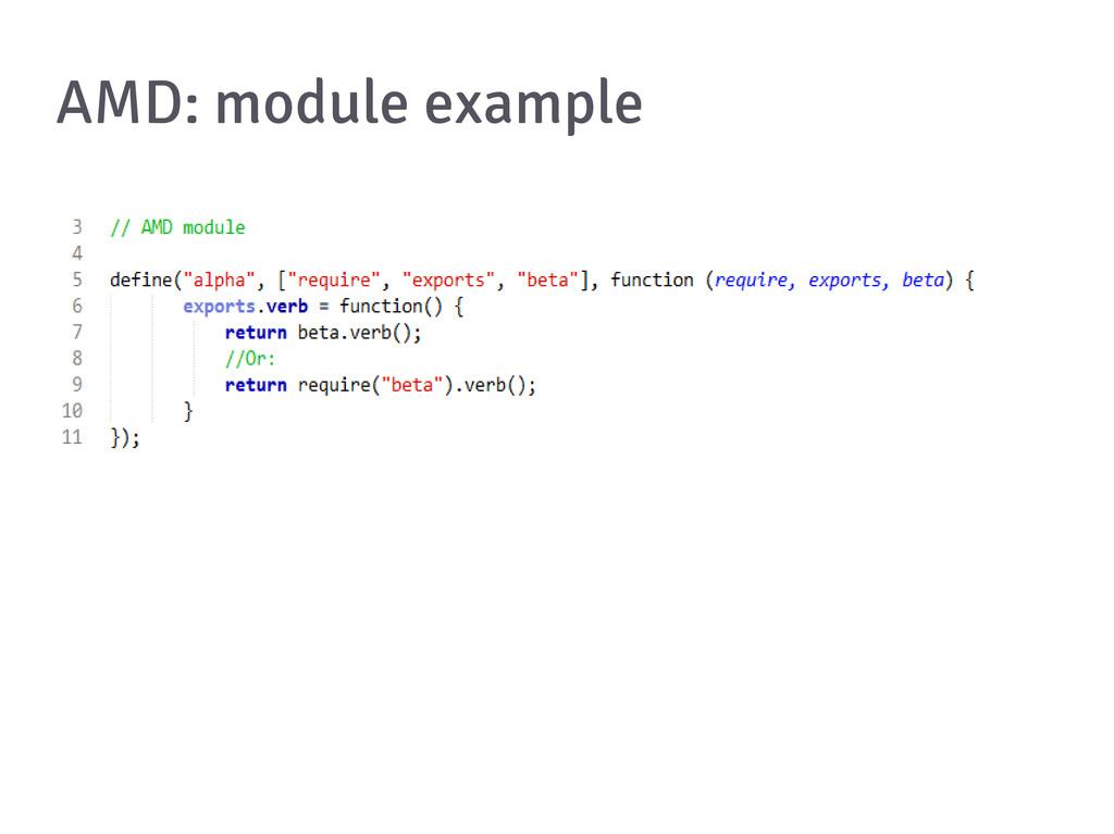 AMD: module example