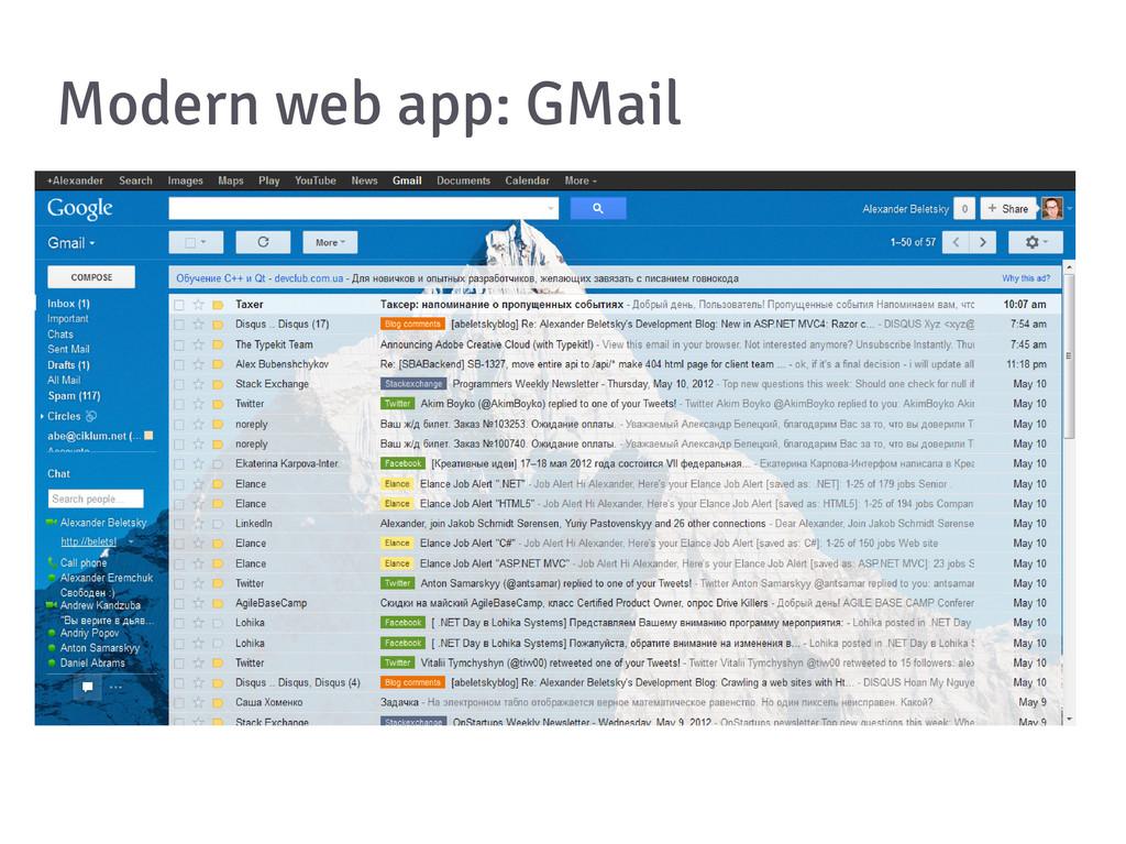 Modern web app: GMail