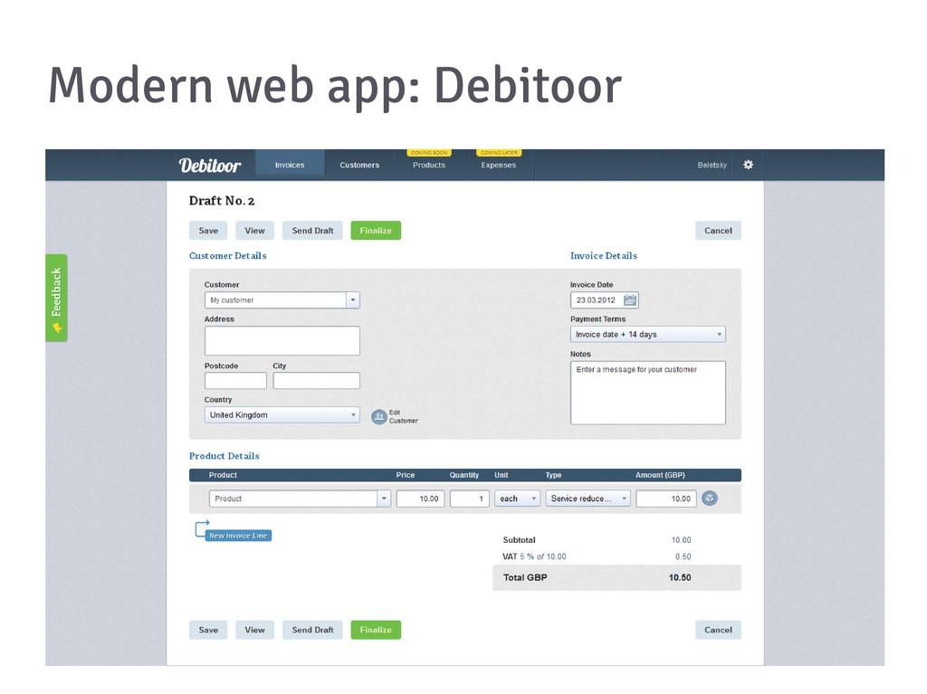 Modern web app: Debitoor