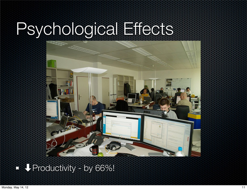 Psychological Effects ‑Productivity - by 66%! 1...