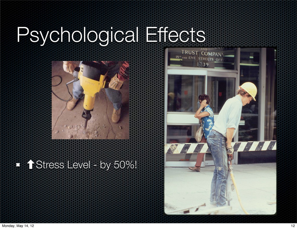 ‐Stress Level - by 50%! Psychological Effects 1...