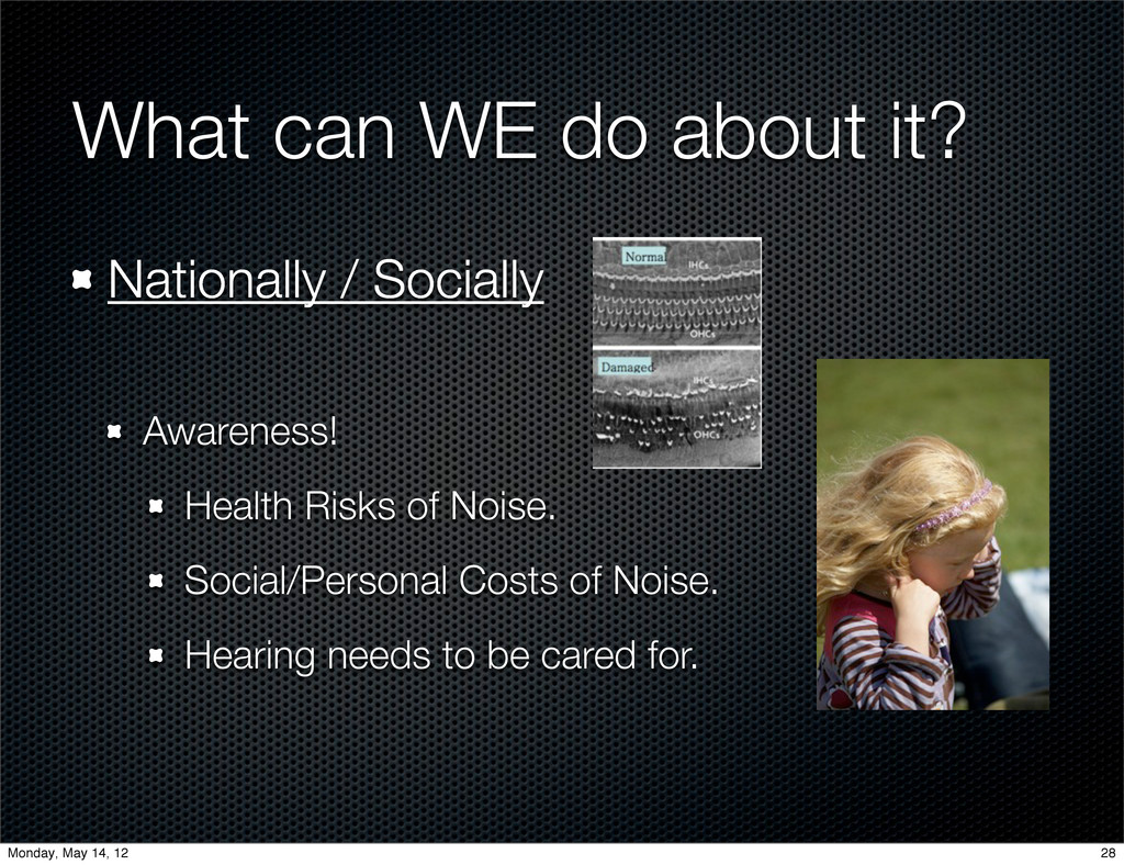 What can WE do about it? Nationally / Socially ...