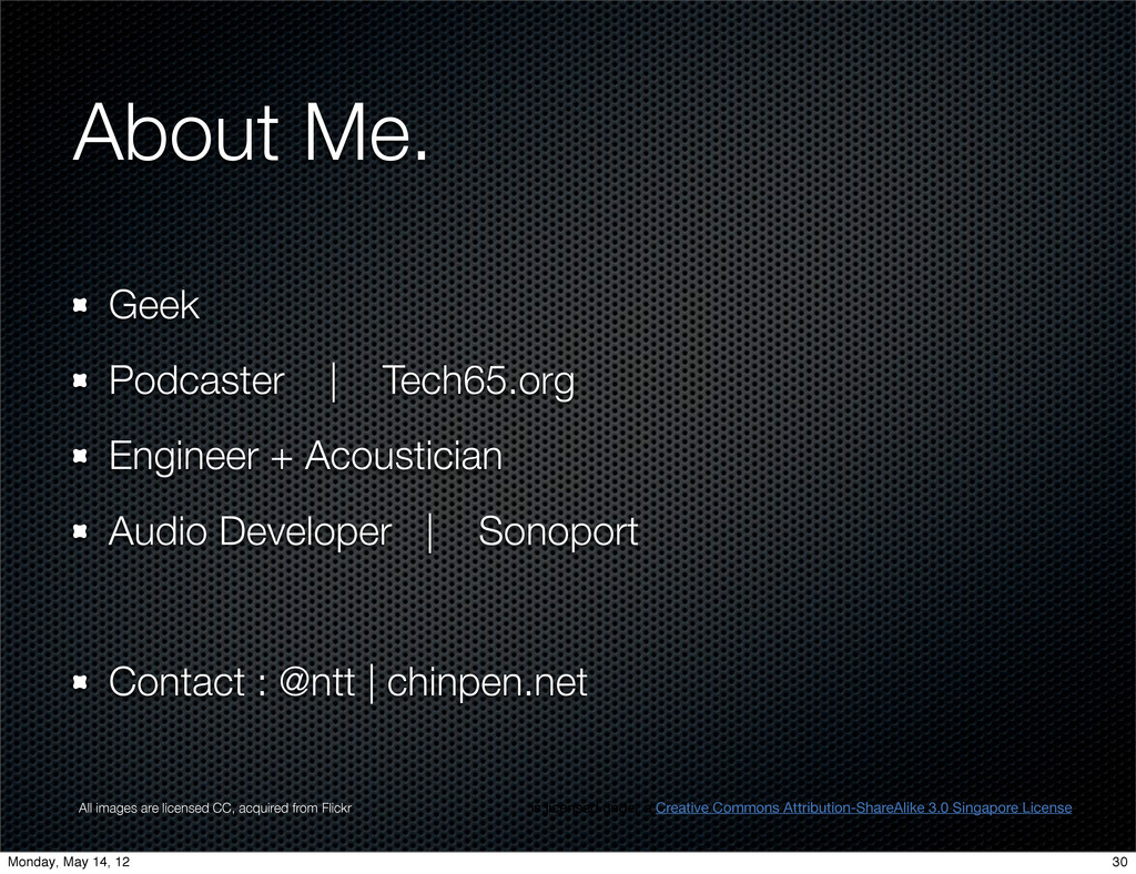 About Me. Geek Podcaster | Tech65.org Engineer ...