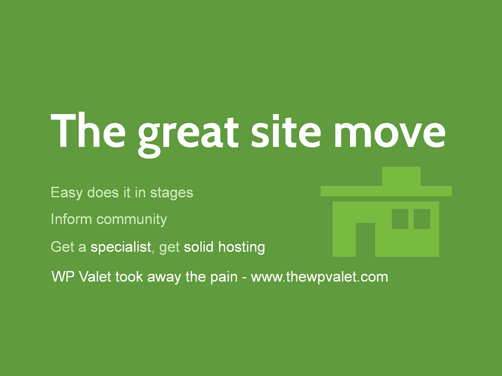 The great site move Easy does it in stages WP V...
