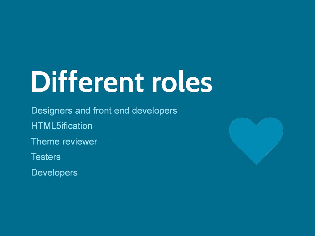 Different roles Designers and front end develop...