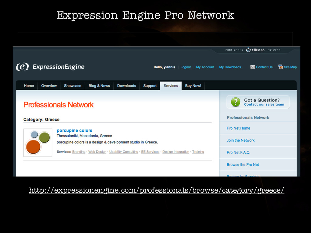 Expression Engine Pro Network http://expression...