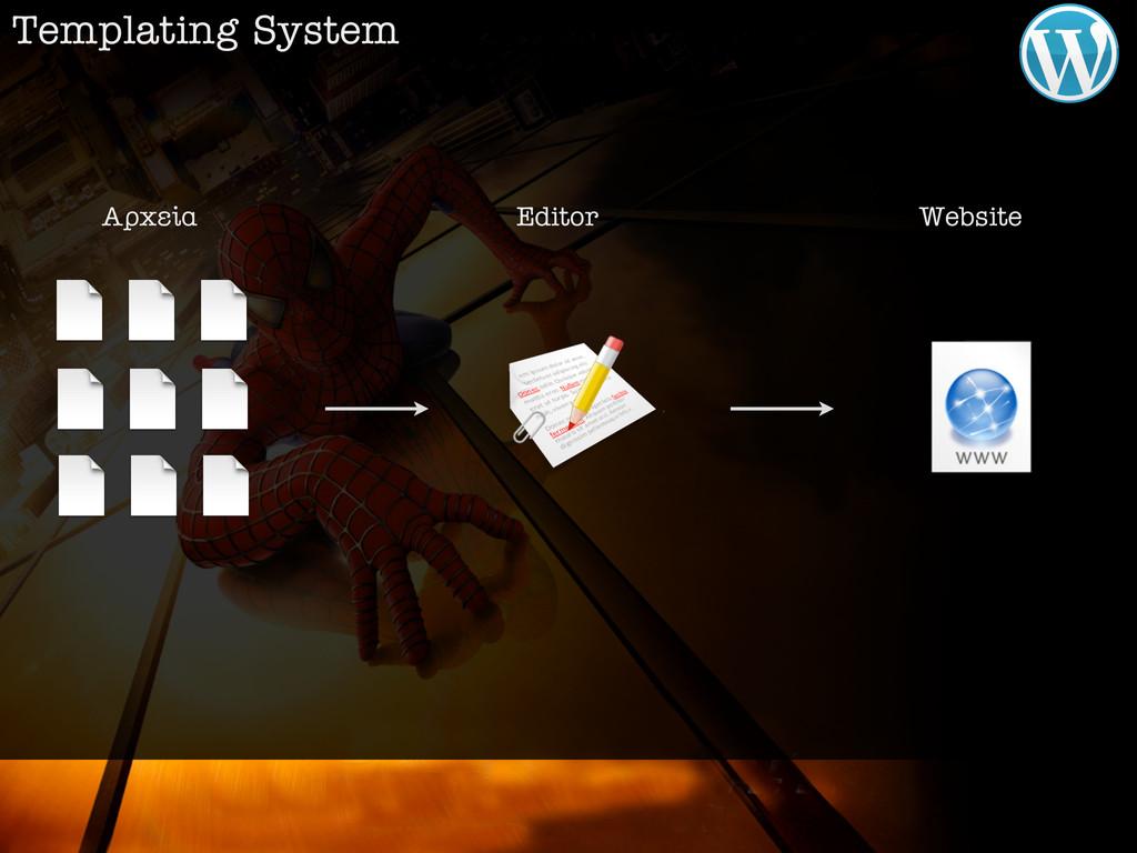 Templating System ∞گ›· Editor Website