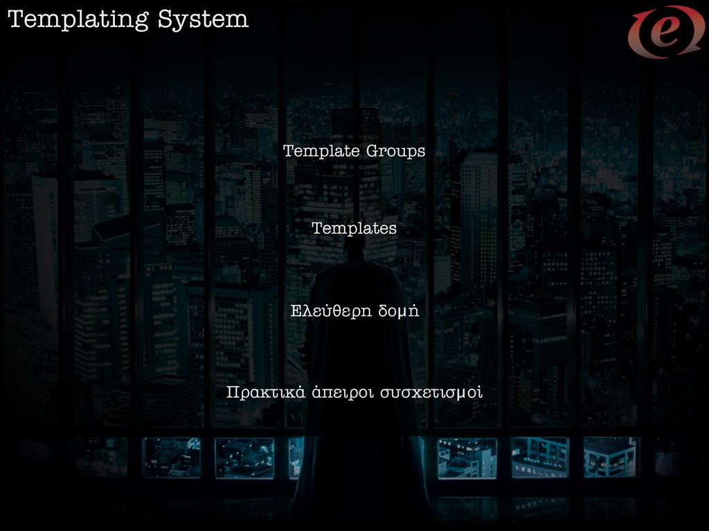 Templating System Template Groups Templates ∂ÏÂ...