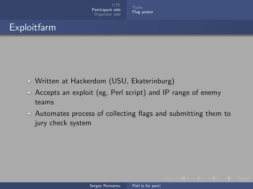 CTF Participant side Organizer side Tools Flag ...