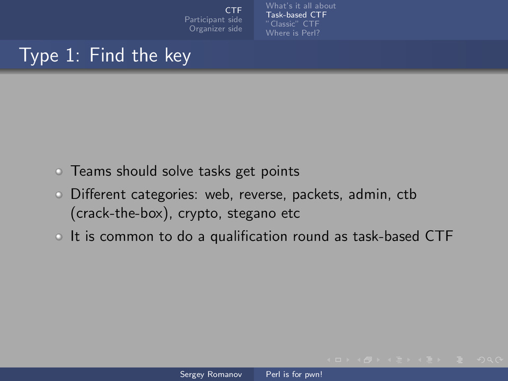 CTF Participant side Organizer side What's it a...