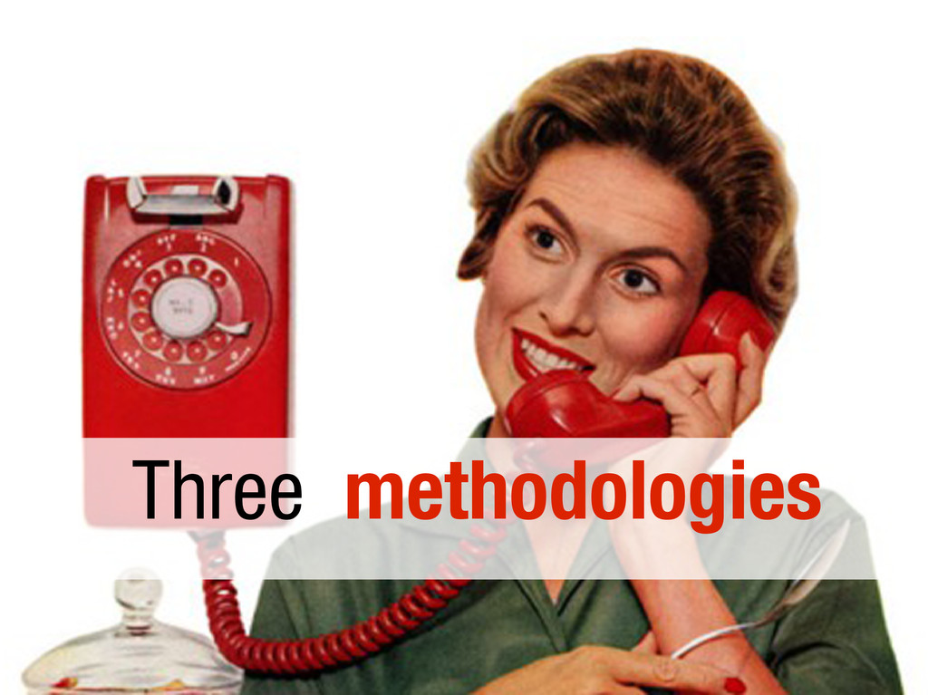 Three methodologies