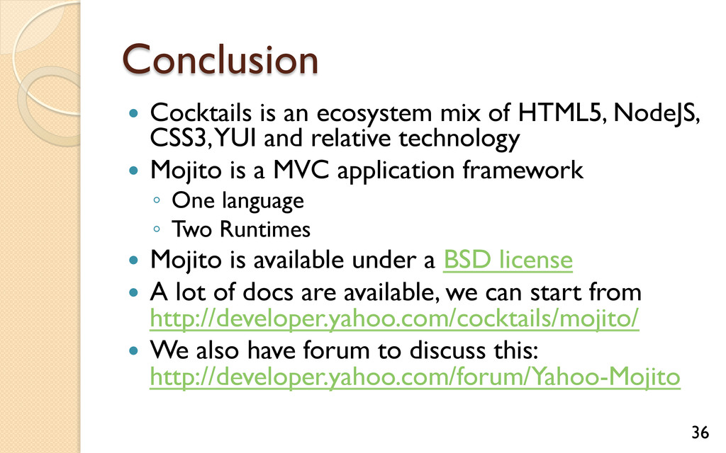 Conclusion — Cocktails is an ecosystem mix of...