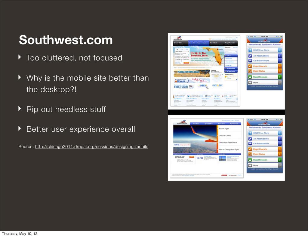 Advanced Responsive Design Southwest.com ‣ Too ...