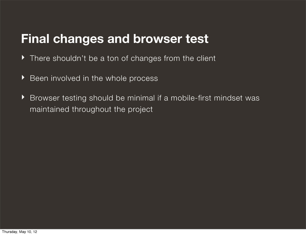 Final changes and browser test ‣ There shouldn'...