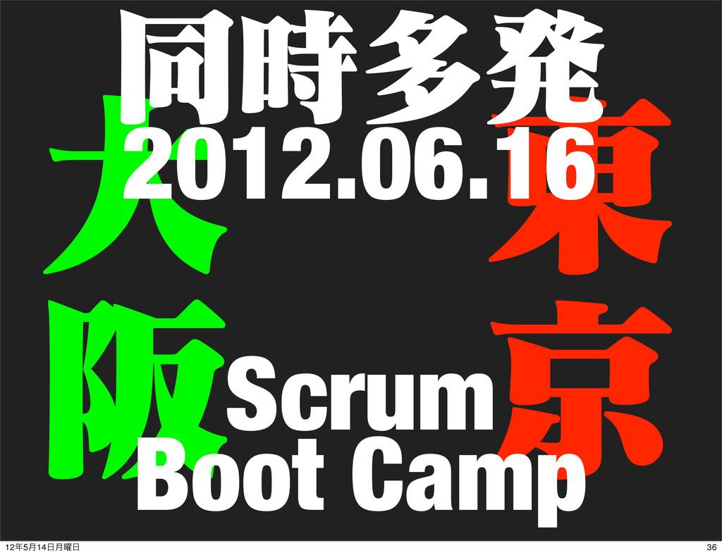 େ ࡕ ౦ ژ ಉଟൃ Scrum Boot Camp 2012.06.16 36 125...