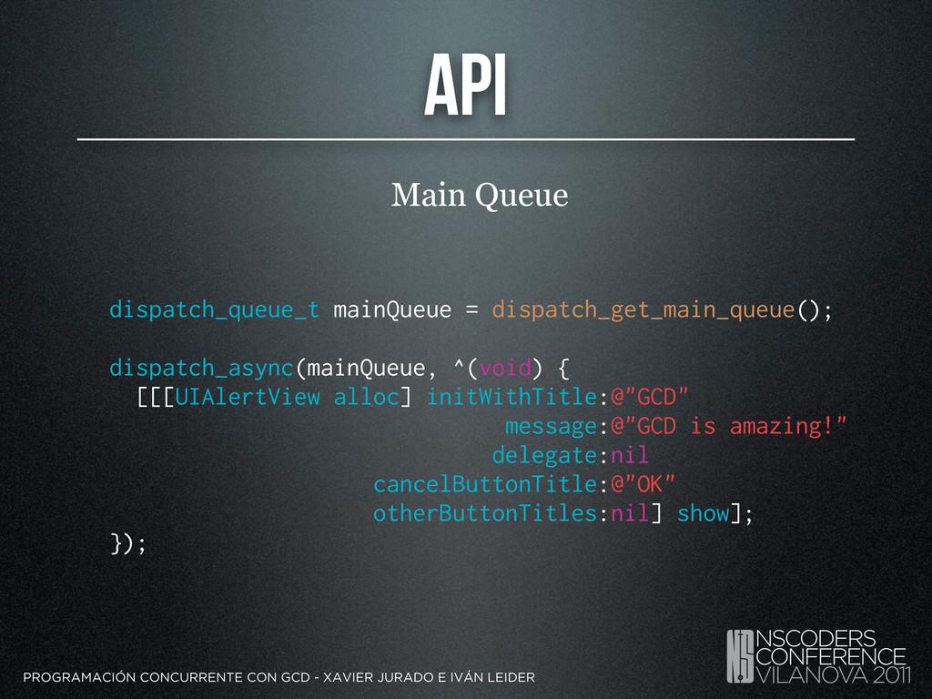 API Main Queue PROGRAMACIÓN CONCURRENTE CON GCD...