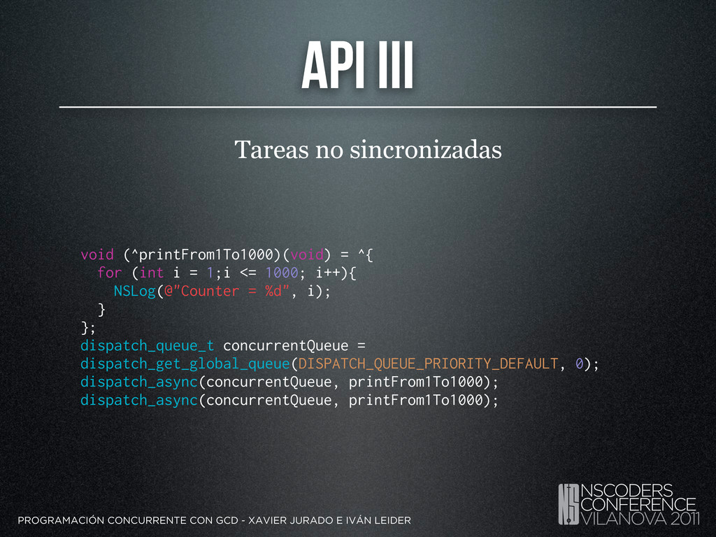 API III Tareas no sincronizadas PROGRAMACIÓN CO...