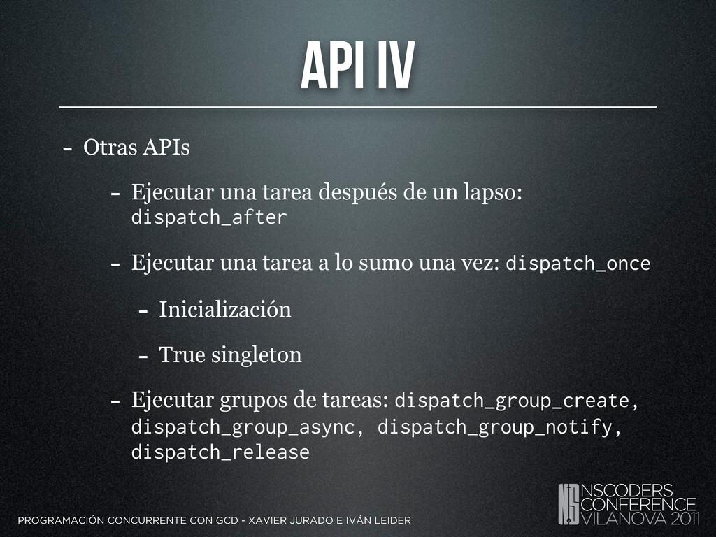 API IV - Otras APIs - Ejecutar una tarea despué...