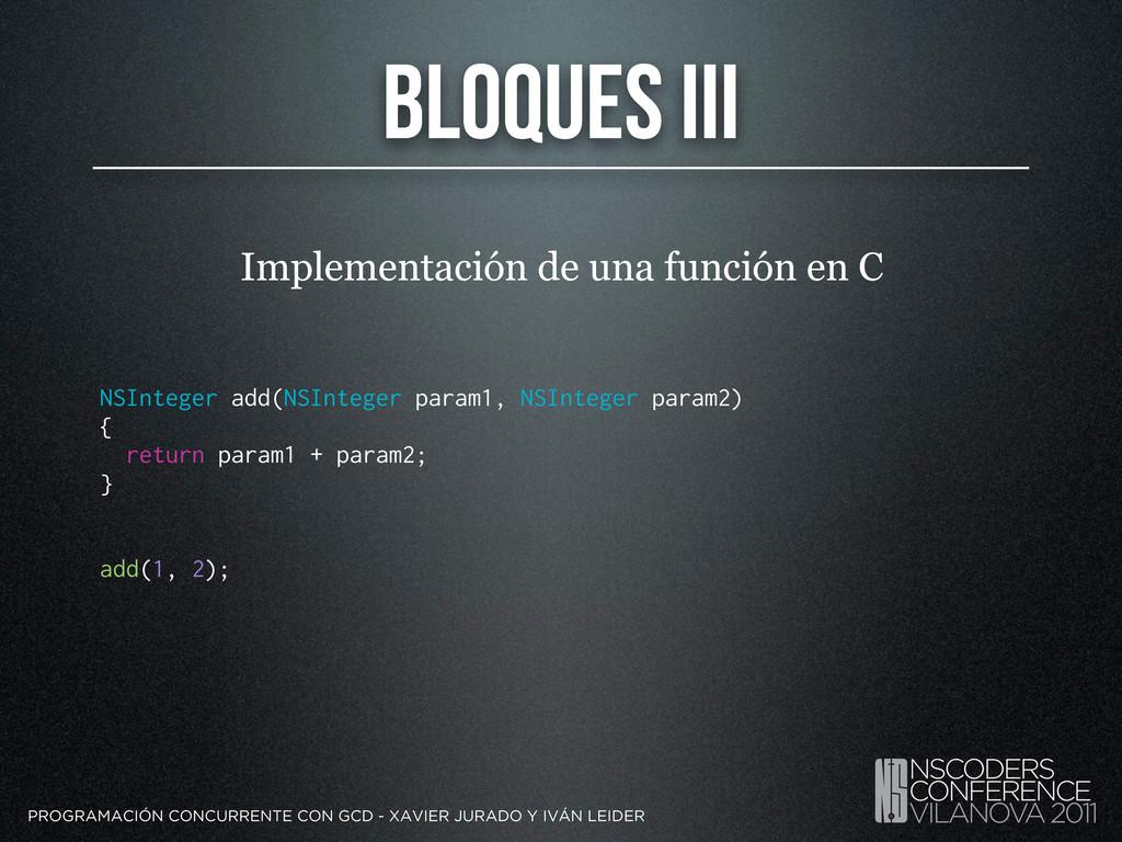 Bloques III PROGRAMACIÓN CONCURRENTE CON GCD - ...
